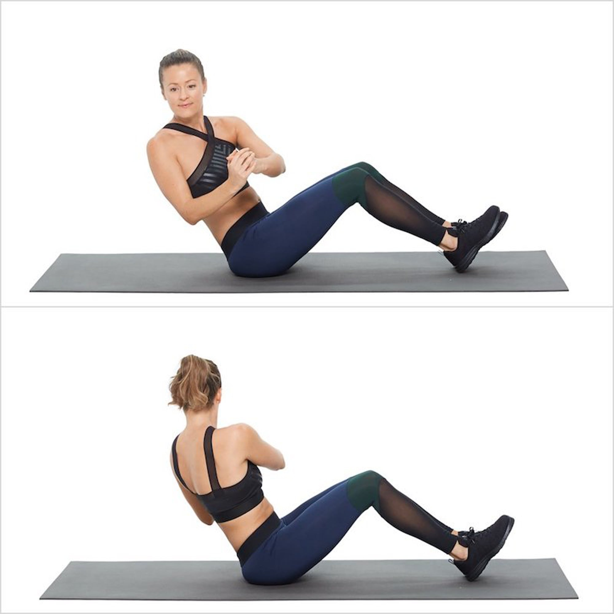 toe touch crunches simple ab exercises popsugar fitness photo 10