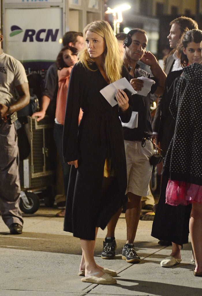 Blake Lively put a robe on between scenes.