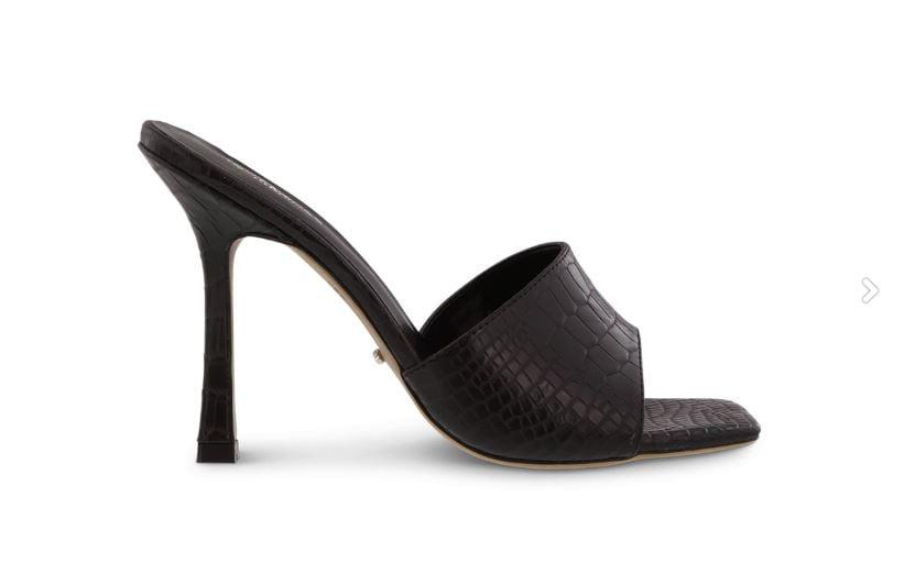 Tony Bianco Flora Black Alligator Heels ($199.95)