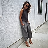 Culottes, Heels, and a Slouchy Tee