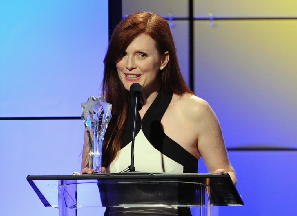 Julianne Moore picked up an award at the Critics' Choice Television Awards in LA.