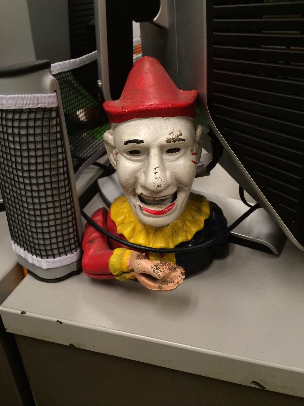 This was on a random desk, and it's TERRIFYING.