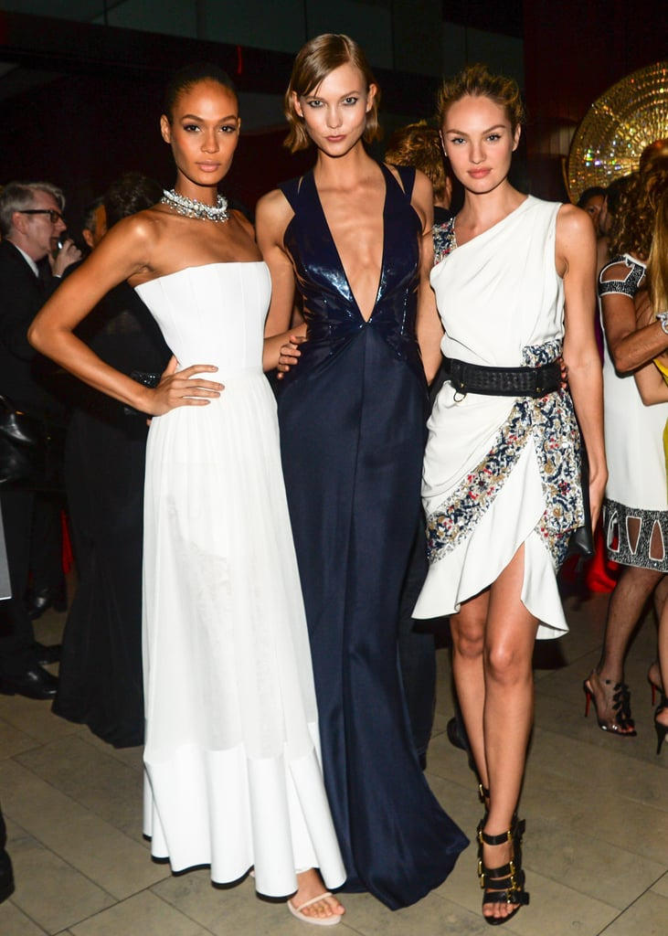 Joan Smalls, Karlie Kloss, and Candice Swanepoel mingled inside the event.  Source: Billy Farrell/BFANYC.com