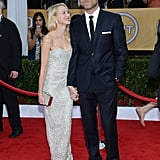 Naomi Watts only had eyes for Liev Schreiber on the SAGs red carpet.
