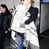 Kate Hudson carried son Bingham Bellamy.