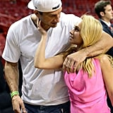 Hayden Panettiere and Wladimir Klitschko showed PDA at a Miami Heat game.