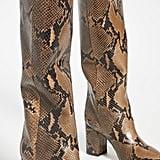 Paris Texas Python Print Boots