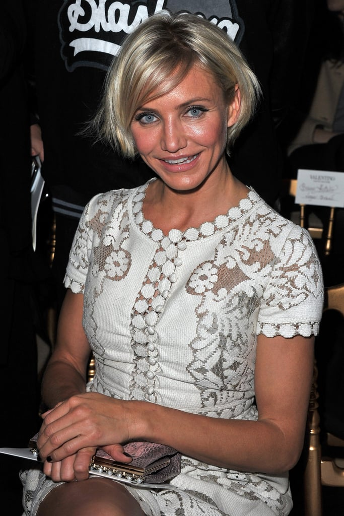 Cameron Diaz at Paris Fashion Week.
