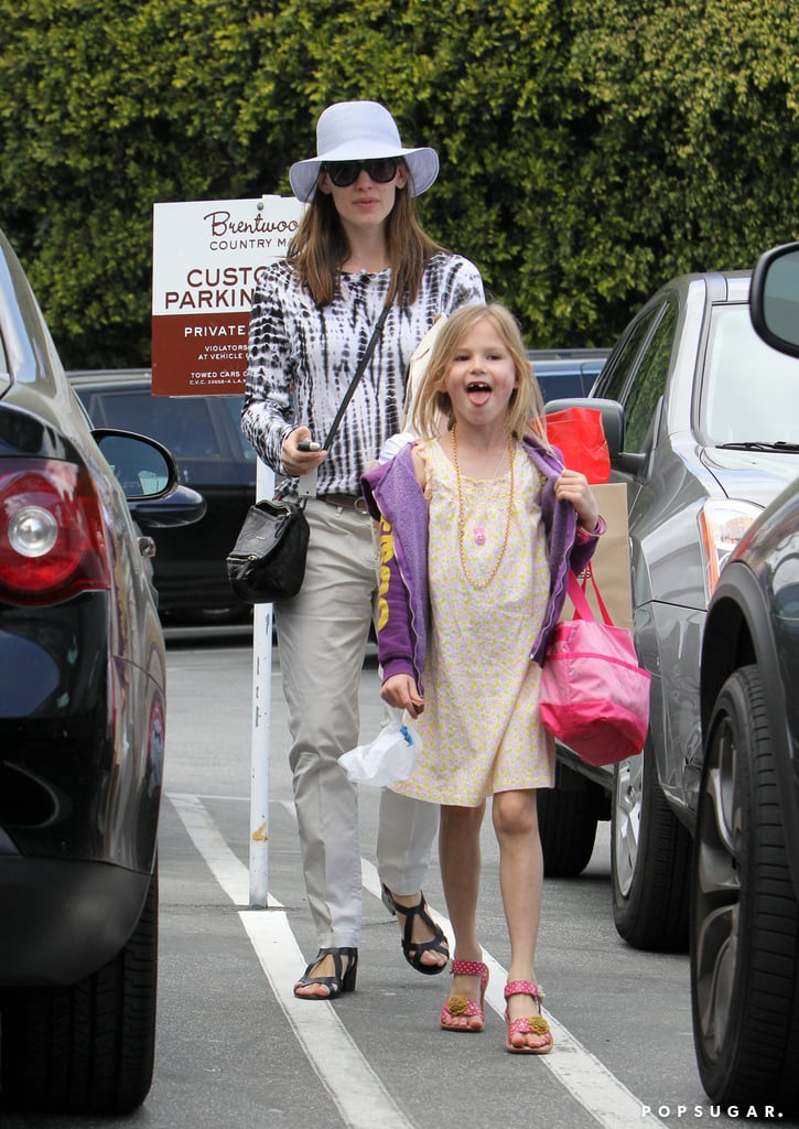 Jennifer Garner ran errands around LA solo yesterday afternoon before bringing her daughter Violet Affleck along for a trip to Brentwood Country Mart. Violet showed off a wide grin with a missing tooth as she and her mom stopped into the James Perse store. It's been a week of fun for Jennifer and her kids that included a stop at McDonald's for Happy Meals, karate class, and even a pony ride for Vi's little sister, Seraphina, at the LA farmers market. Dad Ben Affleck has some work to do, though, gearing up for the April 12 release of his latest film, To the Wonder. His costar Rachel McAdams stopped by Jimmy Kimmel Live! last night to talk about their film, which also stars Javier Bardem and Olga Kurylenko.