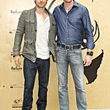 Ian Somerhalder and Philippe Cousteau posed together for a photo in Santa Monica.