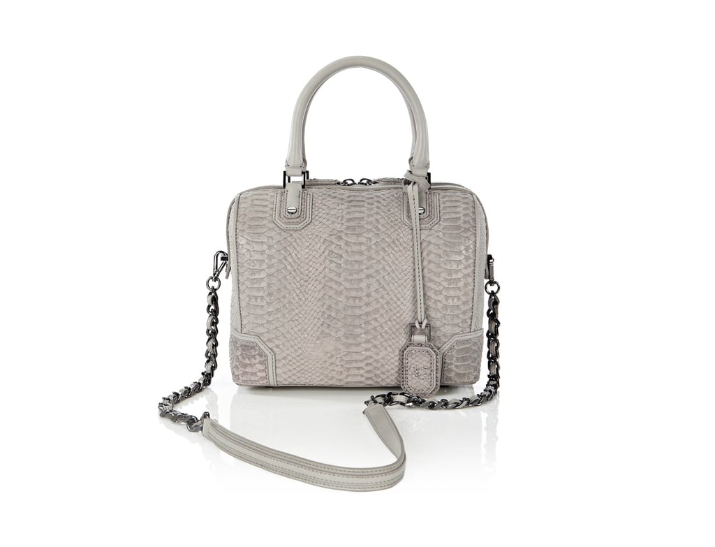 In the latest Gwyneth Paltrow-sanctioned collaboration, Alice + Olivia's limited edition collection for Goop includes an exclusive version of the Olivia bowler bag ($545) in a gray embossed snake leather. It's the perfect everyday bag for Fall, and the color might just be the season's new neutral.  — KS