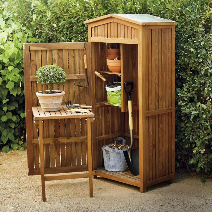 Teak Garden Storage