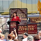 Sarah Palin gives a speech to Tea Party supporters.