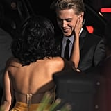 Vanessa Hudgens and Austin Butler showed love at the premiere of Journey 2: The Mysterious Island.