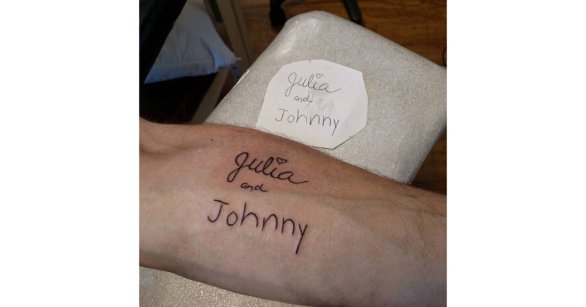 Children S Names In Their Handwriting Tiny Fatherhood Tattoos