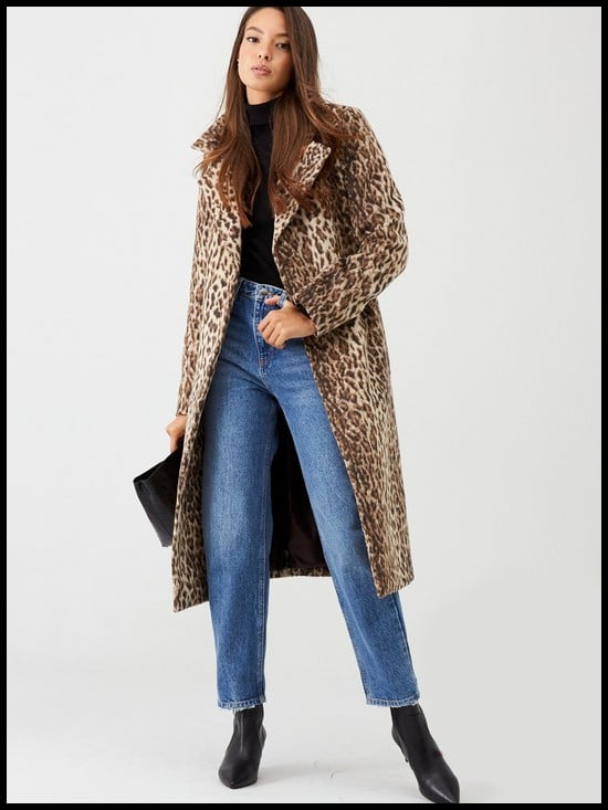 V by Very Animal Print Wrap Coat