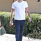 Liam Hemsworth stopped for coffee at an LA Starbucks.