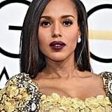 Kerry Washington's Hair and Makeup at the 2017 Golden Globes