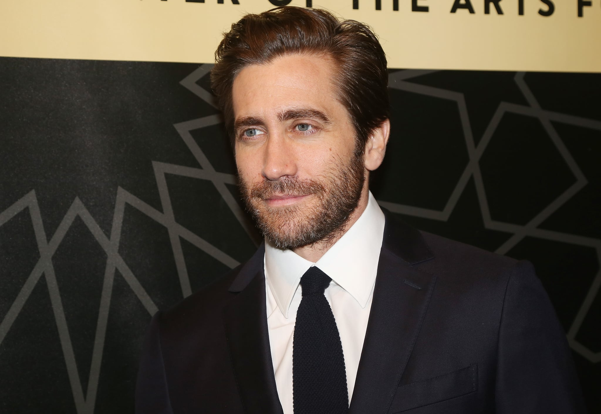 NEW YORK, NY - NOVEMBER 14:  Jake Gyllenhaal poses at City Center's  75th Anniversary Gala Celebration performance of