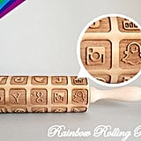 Social Media Icon Embossing Rolling Pin ($30)