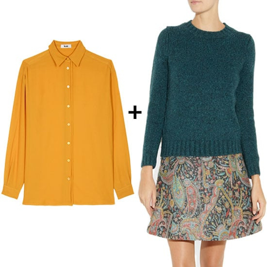 The Prettiest Sweater + Blouse Color Combos For Fall