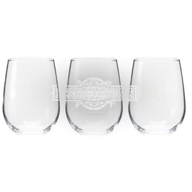 Stemless Logo Wine Glass ($10)