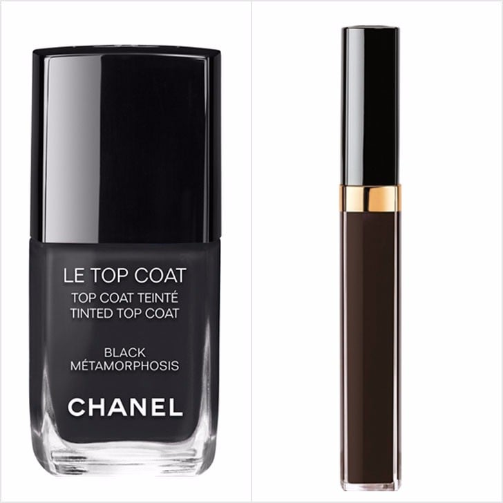 Chanel Black Nail Polish And Lip Gloss Top Coat Popsugar