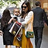 Miranda Kerr and Flynn Bloom shopped in Sydney.