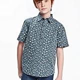 Shark-Printed Pullover Shirt