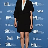 Marion Cotillard dressed in head-to-toe Christian Dior for the Blood Ties press conference in Toronto.