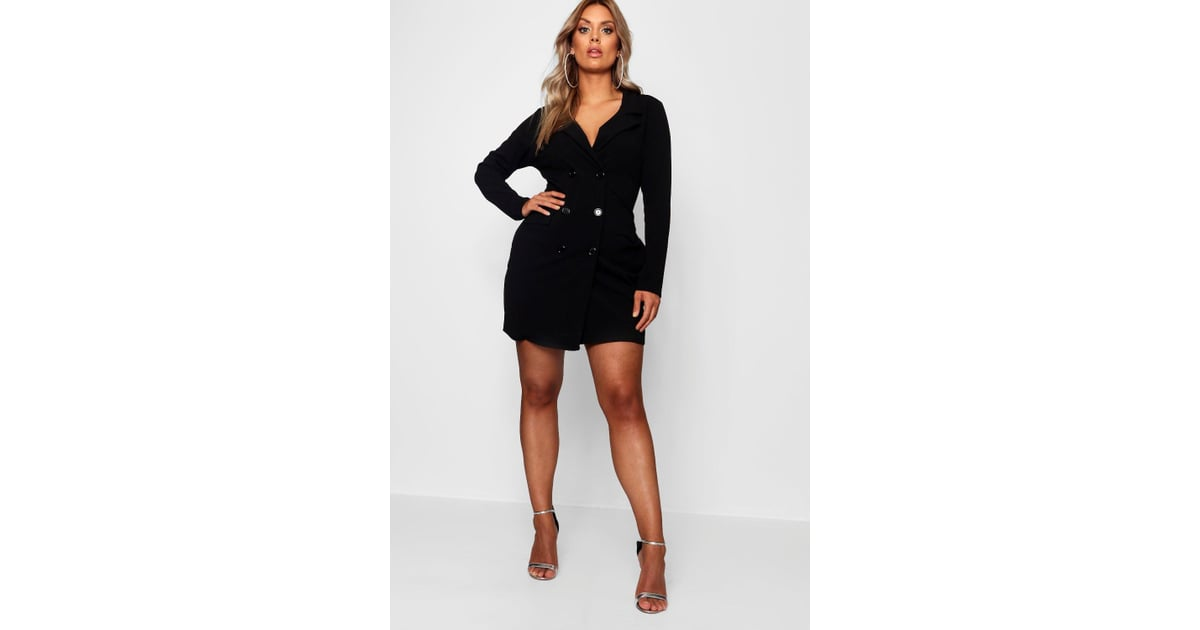 39809f670e4d Boohoo Plus Scuba Blazer Dress | Lady Gaga Blazer Dress | POPSUGAR ...