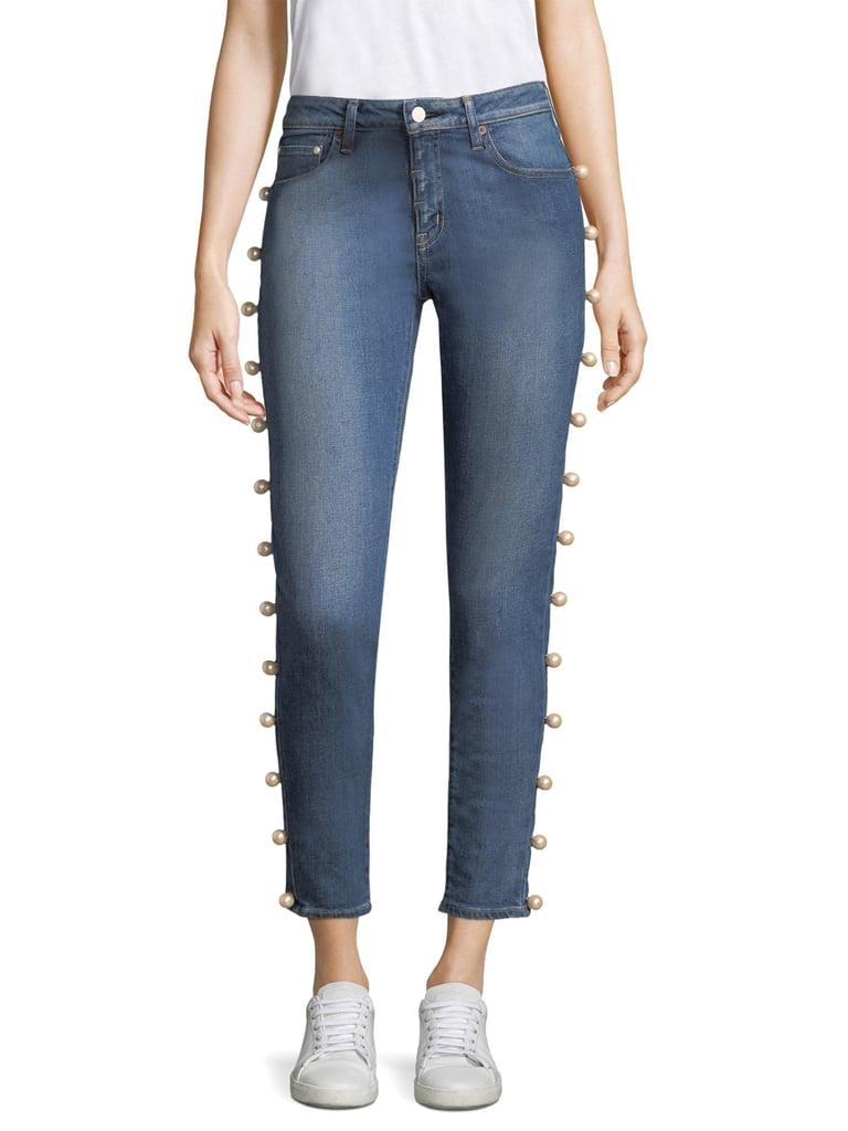 Tu es mon Trésor Side Pearl Edge Jeans