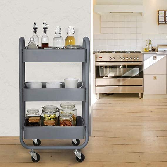 DESIGNA Metal Rolling Storage Cart