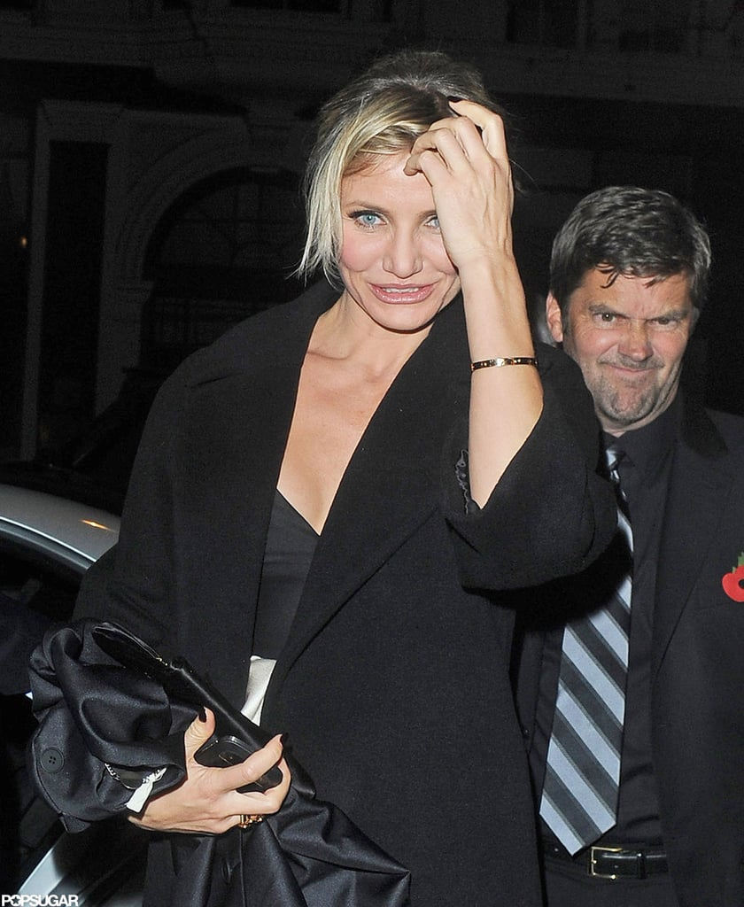 Cameron Diaz smiled for photographers in London.