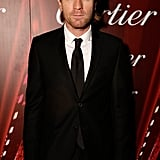 Ewan McGregor was one of the few male stars who wore a long tie.