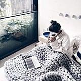 Aixingyun Chunky Knit Blanket