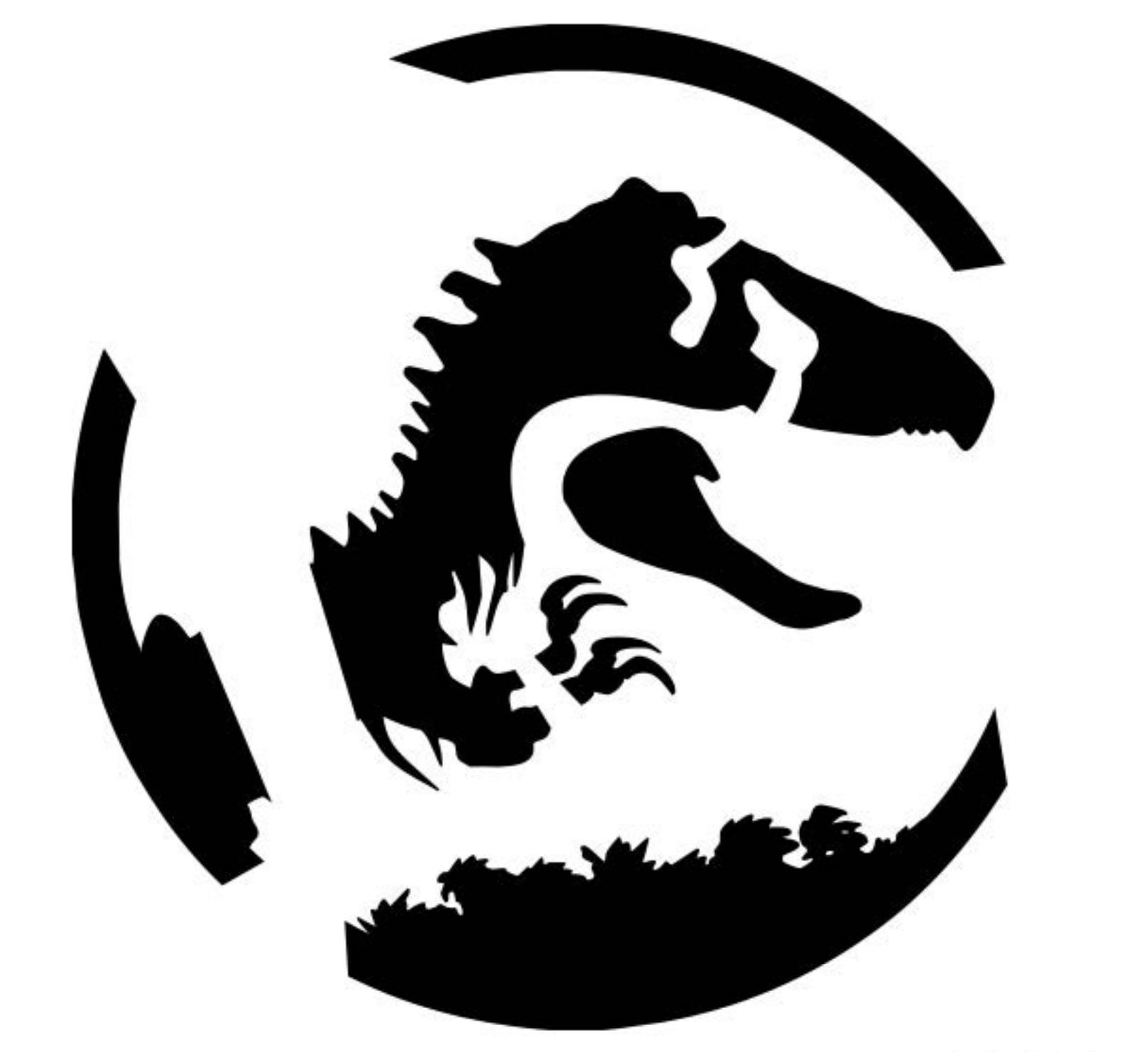 pumpkin template jurassic park  Jurassic Park | 6+ Free Stencils That Will Take Your ...