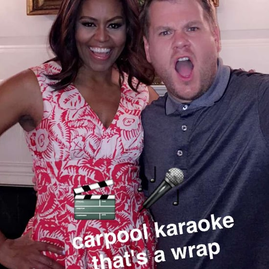 Michelle Obama Red Dress on Snapchat June 2016