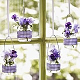 Hanging Baby-Food Jar Vases