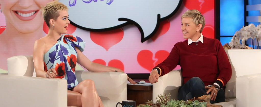 Katy Perry Awkwardly Reminds Ellen That She and Russell Brand Got Divorced
