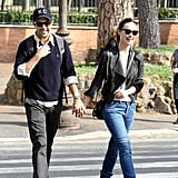 Olivia Wilde and Jason Sudeikis strolled hand in hand in Rome.