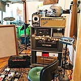 Here's a corner of the studio A tracking room.