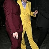 Harry Styles Yellow Marc Jacobs Suit at the Brit Awards 2020