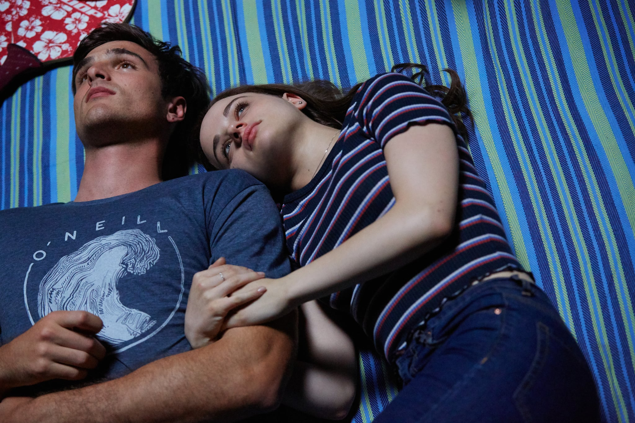 THE KISSING BOOTH 3 (2021) Jacob Elordi as Noah and Joey King as Elle.  Cr: Marcos Cruz/NETFLIX