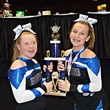 """Audrey's biggest accomplishment to date? Winning the 2019 Pop Warner National Cheer & Dance Championships in Orlando, FL with her team on Dec. 6.  """"The nicest compliment is when people ask where Audrey is in the routine,"""" explained Jody. """"Unless someone tells you there is a child with Down syndrome on the floor you wouldn't know it."""" And obviously, Audrey's teammates are just as fond of her as she is of them.  """"Not only did Audrey and her squad win Nationals but these amazing girls unanimously voted her their Homecoming Queen this past October,"""" said Jody.  """"It has been a dream come true experience."""""""