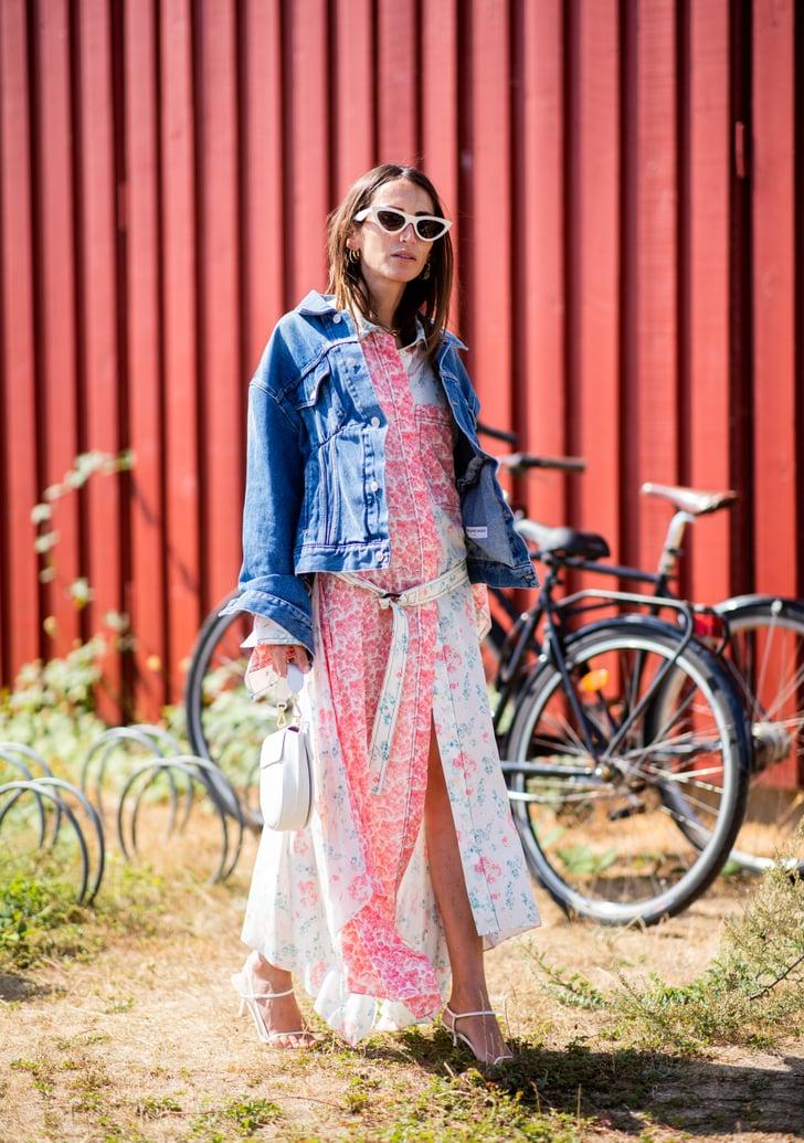 12599c4dda3 Denim Jacket Outfit Ideas For Spring and Summer | POPSUGAR Fashion