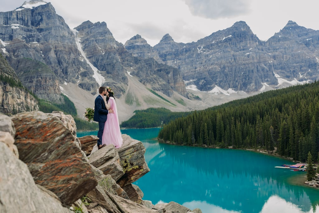 Elopement at Moraine Lake in Banff National Park