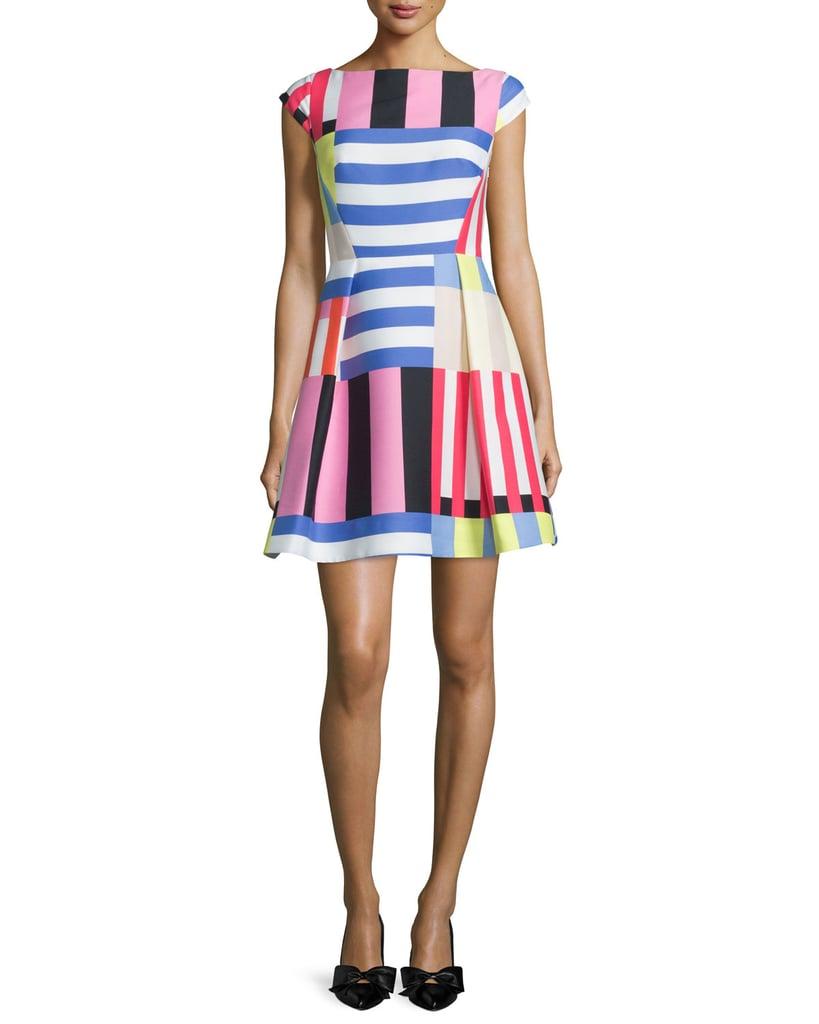 Kate Spade Multi-Striped Fit-&-Flare Dress ($448)