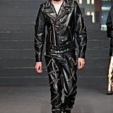 Anwar Hadid Wore a Leather Biker Look