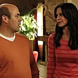 Ian Gomez and Courteney Cox on Cougar Town. Photo copyright 2012 ABC, Inc.